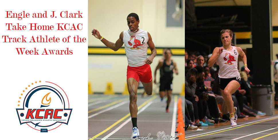 Photo for Engle and J. Clark Take Home KCAC Track Athlete of the Week Awards