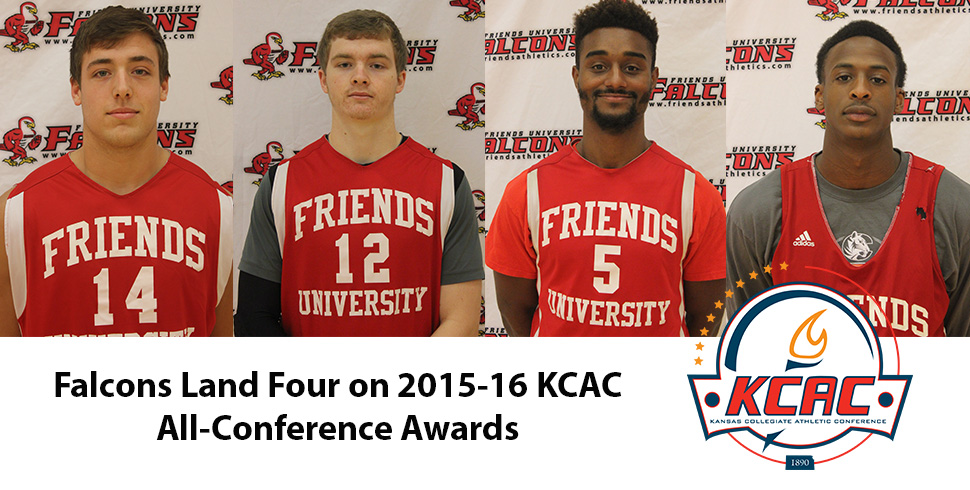 Photo for Four Falcons Make KCAC Men's Basketball All-Conference Awards