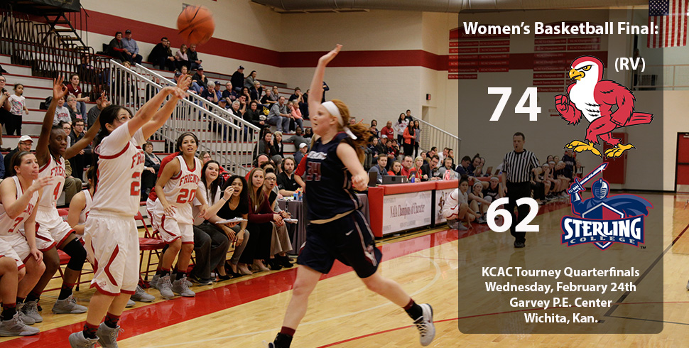 Photo for Women's Basketball Bests Sterling in KCAC Quarterfinals