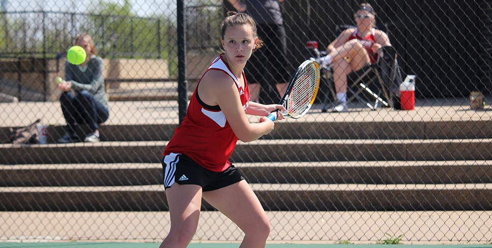 Photo for Women's Tennis Stops Streak with Win, Men Dealt First KCAC Loss