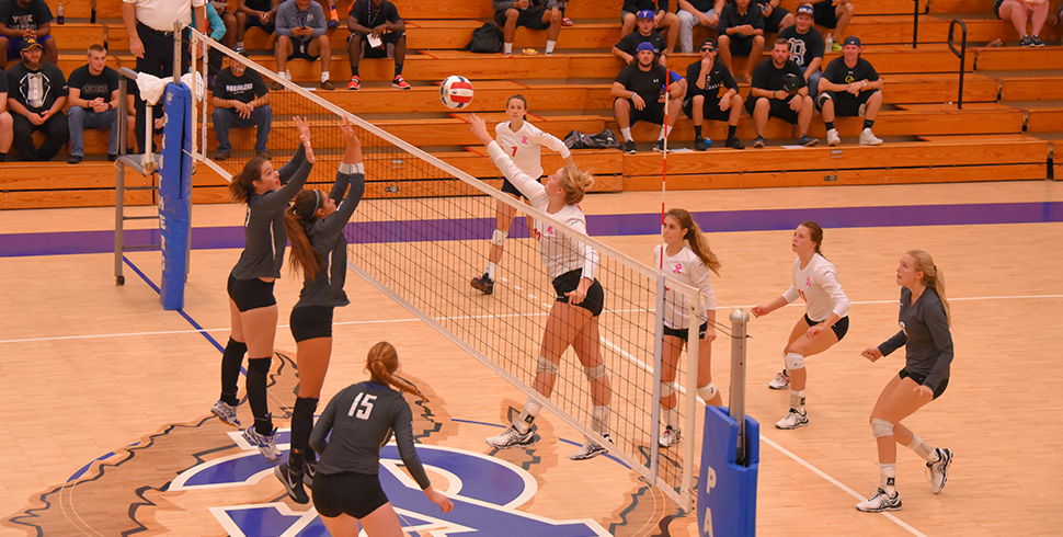 Photo for Volleyball Sweeps at York for First KCAC Win