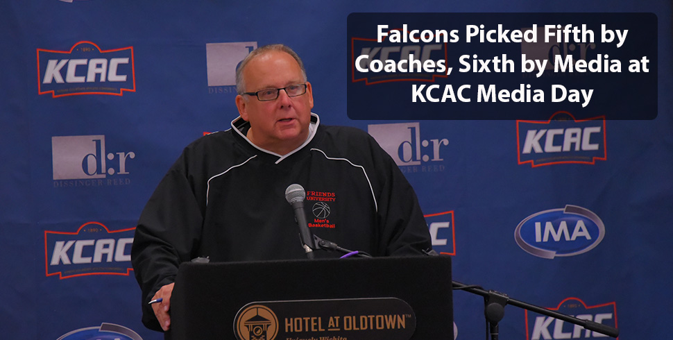 Photo for Men's Basketball Picked Fifth and Sixth at KCAC Media Day