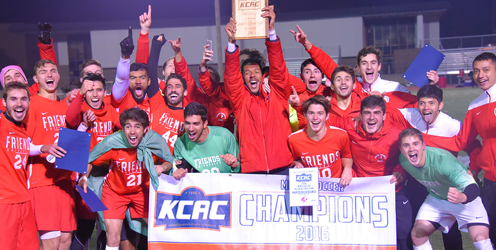 Photo for Men's Soccer Wins KCAC Tournament Championship in Shootout